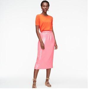J. Crew Pull-On Midi Skirt in Allover Sequins